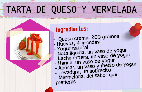 Ingredientes para nuestra receta saludable de tarta de queso y mermelada, siempre con alimentos naturales y sanos