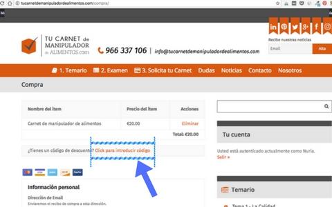 Descuento 5€ con código descuento ofertaseptiembre segunda parte