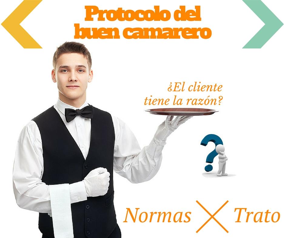 Atención al público de un camarero profesional. Protocolo del buen camarero