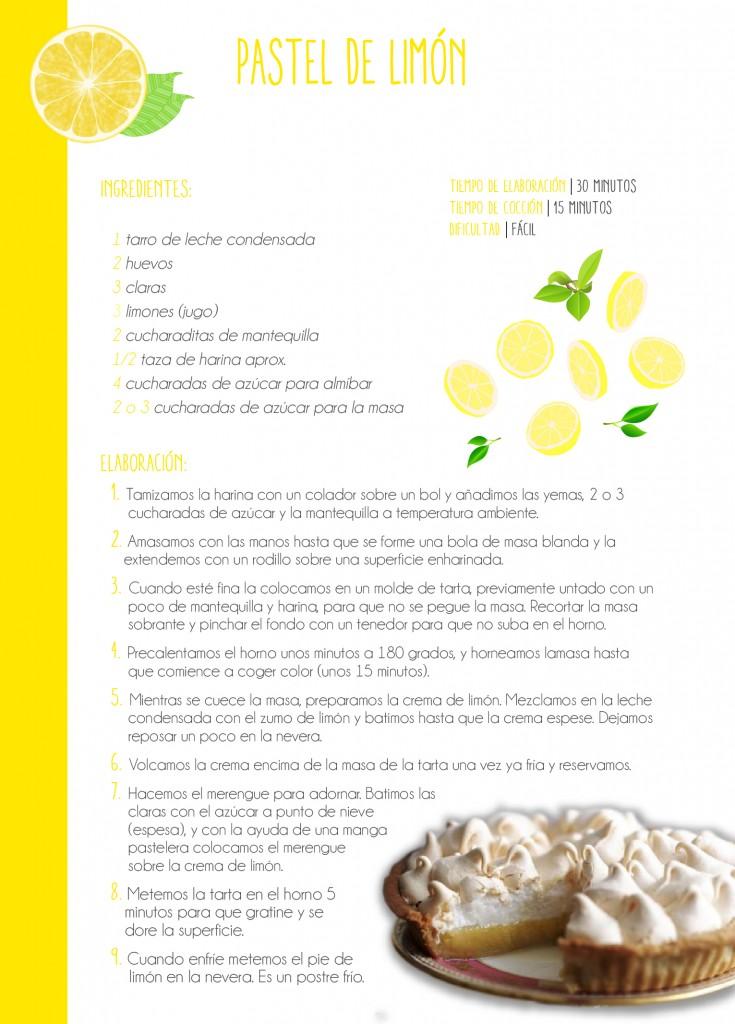Receta saludable casera. Elaborar un pastel de limón paso a paso