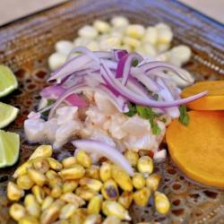 Ceviche peruano, un plato fresco y sano, perfecto para el verano.