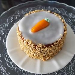 Receta para hacer pastel de zanahoria.