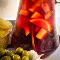 Sangría. La bebida del turismo typical spanish