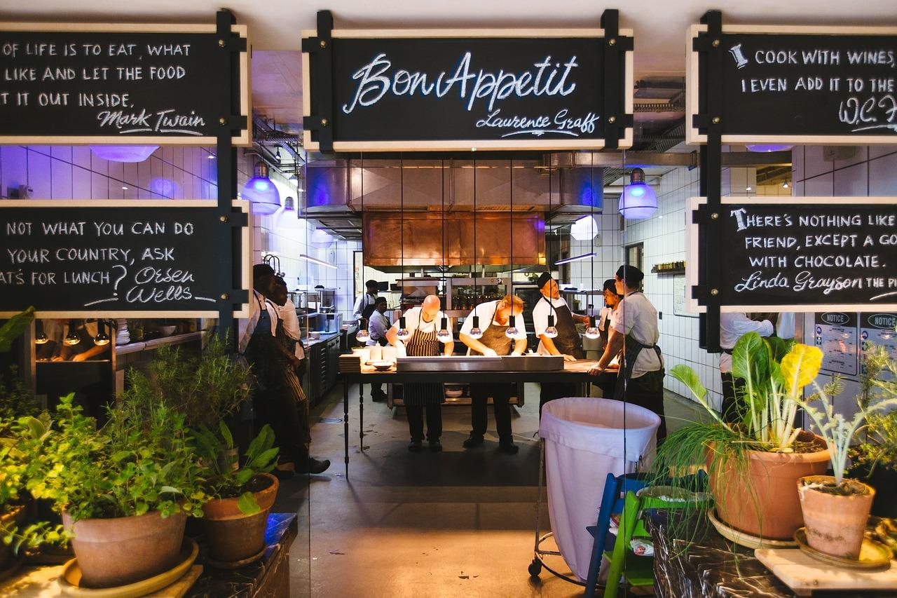 Restaurante. Requisitos a la entrada
